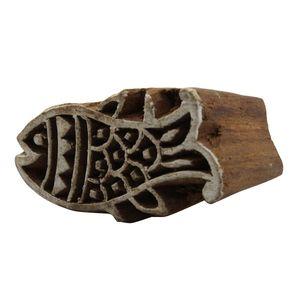 Stempel aus Holz - Fisch - links - 5 cm - Holzstempel
