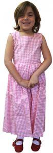 Mädchen Kinder Dirndl Mädchendirndl Kleid Rosa/Weiß kariert, Größe:116