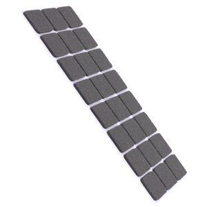 24 Stück Filzgleiter Möbelgleiter Selbstklebend 30x30mm Eckig - Grau - Stuhlgleiter