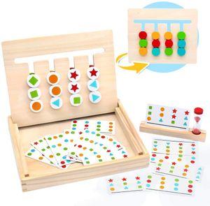 Montessori Spielzeug Holz Puzzle Sortierbox  Kinder Lernspielzeug mit Sanduhr ab 3 4 5 Jahre alte Jungen und Mädchen