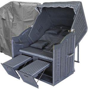Strandkorb XL grau ✔ 2-Sitzer ✔ XL ✔ anthrazit ✔ Polyrattan