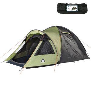 10T Glenhill 4 Beechnut - 4 Personen Kuppelzelt, Campingzelt mit riesiger XXL Schlafkabine, wasserdichtes Trekking Zelt