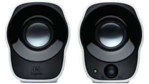 Logitech 980-000513 PC-Lautsprechersystem, 2 Aktiv-Lautsprecher, 1,2 Watt RMS