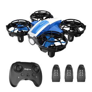 Holyton HS330 Mini Drohne für Kinder mit Handsteuerung und Fernbedienung, RC Quadrocopter mit 21 Min. Langer Flugzeit, Drone Klein 3 Batterien, Hindernisvermeidung, Werfen-Go, 3D-Rollen, Not-Aus