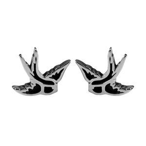 1 Paar Chirurgenstahl Ohrstecker Ohrringe Schwalben