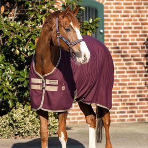 Horseware Amigo Stable  Sheet 0g - Fig/Navy, Größe:140