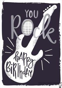 Musikkarte A5 Glückwunschkarte zum Geburtstag You Rock