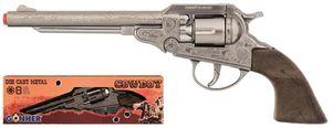 Gonher Toy Revolver Cowboy 8 schottisch 27,5 cm Silber