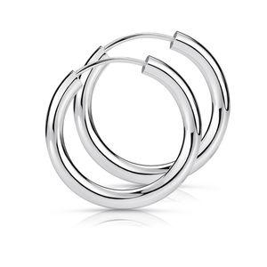 MATERIA 925 Sterling Silber Creolen Ohrringe klein 15mm - Ø 2,5mm Herren Damen Silbercreolen SO-15
