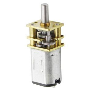 Motor Getriebemotor Gleichstrommotor Elektromotor, Drehzahl: Mikrogetriebemotor 3 V - 500 U / min Golden + Silber DC 3V 6V 12V N20