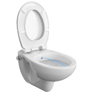 TEMTASI TEK DuschWC, Mischarmatur, Edelstahldüse, antibakterielle Keramik, WC-Sitz abnehmbar, Absenkautomatik