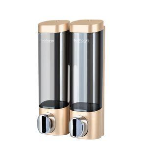Hand Sanitizer Dispenser Wand Plastic Shampoo Dispenser -(Gold Doppel,)