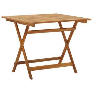 MÖBEL Klappbarer Gartentisch CLORIS Esstisch Balkontisch Tisch Garten 90x90x75 cm Massivholz Akazie #DE8896