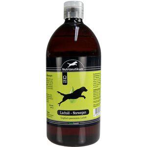 Lachsöl 1000 ml vom norwegischen Lachs mit 84,5 % ungesättigten Fettsäuren mit Omega 3 -6 liefert wertvolle Bausteine für den Hundekörper sorgt für gesunde Haut und ein glänzend gepflegtes Fell