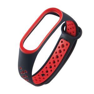 xiaomi mi band 4 armband riemen ersatz für xiaomi band 4 【Schwarz & Rot】