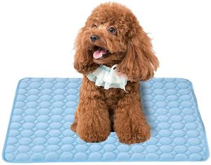 XL 102*70cm Kühlmatte Hund & Katzen Eis Silber Hunde Kühlmatte Zerstreut Wärme von Ihrem Haustier Halten Sie in der Warmen Sommerwetter Kühl