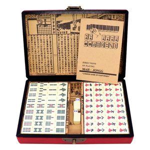 Chinesisches nummeriertes Mahjong-Set 144 Fliesen Mah-Jong-Set chinesisches Brettspiele