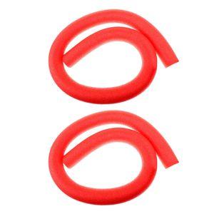 2 Stück Flexibel Schwimmbad Pool Nudeln Poolnudel Schwimmnudel Kinder Erwachsene Schwimmer Hilfe Farbe rot
