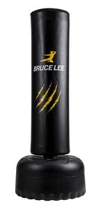 Bruce Lee Standboxsack / Freistehender Boxsack / Boxständer freistehend / Boxständer -gelb/schwarz