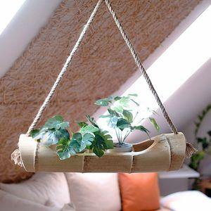 Bambus Blumenampel, Pflanzenhalter, Natur, Blumentopf Hänger