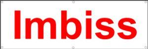Werbeplane / Gerüstplane - p07 -IMBISS - Plane - Banner150cm x 50 cm - für Baustelle, Garten, Zaun oder Veranstaltung