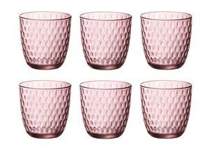 Bormioli Gläser Slot Rosa 290 ml - 6 Stück