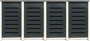 4 Tailor Mülltonnenboxen Basic für 240 Liter Tonne /Stanzung 6 /Anthrazit / Grau