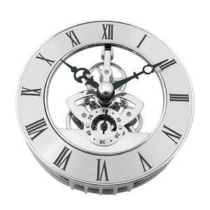 Einsteckuhrwerk aus Metall, Quarz Uhrwerk,Einbauuhr für Glas und Basteluhren Silber 86x24mm