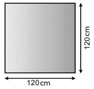 Funkenschutzplatte Metall Lienbacher anthrazit 4-Eck 120x120cm