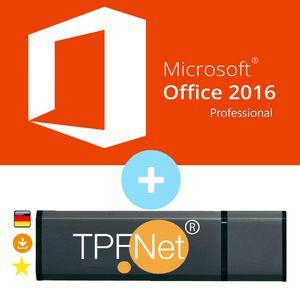 Microsoft® Office 2016 Professional 32 bit & 64 bit - Original Aktivierungsschlüssel mit USB Stick von - TPFNet®