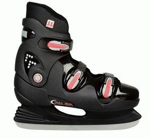 Nijdam Hardboot XXL Marken Schlittschuhe Gr.47-50 Eislaufschuhe Eishockey, Größe:48