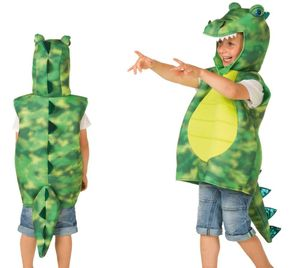 Karneval Kostüm-Weste, Drache grün