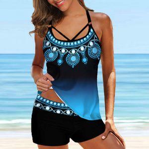 Mehrfarbiges Tie-Dye-Druckset für Damen Zweiteiliges Badeanzug und Panty-Badeanzüge ZXX210317171