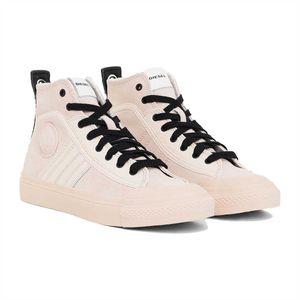 DIESEL Damen High Sneaker - S-Astico, Turnschuhe, Leder, altrosa 40 EUR