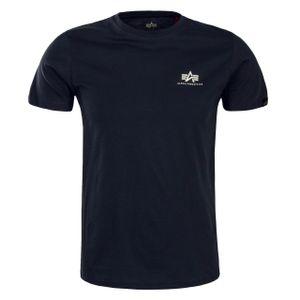 Alpha Industries Herren T-Shirt Basic Small Logo greyblack XXL