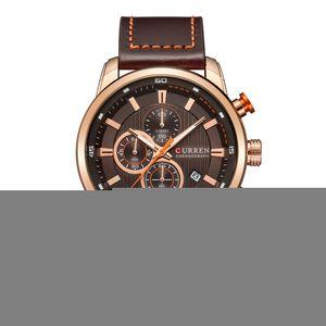Curren Herrenmode Kunstleder-Sport-Armbanduhr-beilaeufige Uhr-Luxuxwasser-bestaendige Quarzuhr