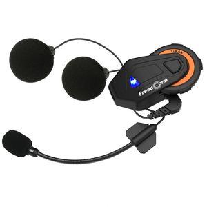 FreedConn T-MAX Bluetooth 4.1 Helm Gegensprechanlage 1000M Wireless Motorrad Headset IPX65 Staubdicht und wasserdicht 6 Fahrer Full Duplex Interphone w / FM Radio