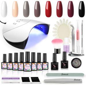 Led Nagellack 36W UV Nail Lamp Starter set mehrfarbig  Gellack UV KIT gel lacke für uv lampe set uv nagel set  starterset nägel mit uv lampe