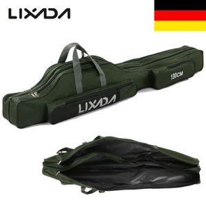 Lixada 100 cm / 130 cm / 150 cm Angeltasche Tragbare Faltbare Angelrute Spulentasche Pole Gear Tackle Werkzeugkoffer Traeger Reisespeicher