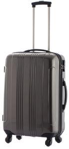 Cahoon – Hartschalen-Koffer Trolley 4-Rollen Reisekoffer 801 / L 65 Liter / Farbe: anthrazit