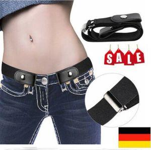 Miixia Unsichtbar Gürtel Elastischer Stretchgürtel ohne Schnalle für Damen Herren Jeans Hosen Justierbar Stretchgürtel Gürtel