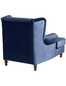 Max Winzer Mareille Big-Sessel inkl. 2x Zierkissen 55x55cm + 40x40cm dunkelblau