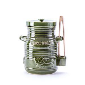GÄRTOPF Steinzeug Sauerkrauttopf Gurkentopf Rumtopf Tontopf mit DECKEL 3,5 L