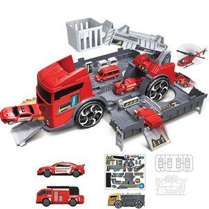 MECO 1:24 Kinder Spielzeug LKW Engineer Fahrzeug Feuerwehr Auto Parkhaus Spielfahrzeuge Typ: Feuerwehrauto