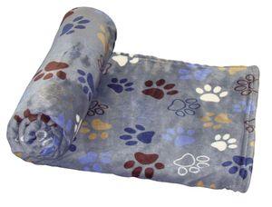 Nobby Classic Fleece Plaid Lissi blau, dunkelgrau L x B: 100 x 150 cm