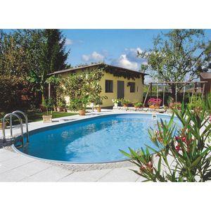 Summer Fun Stahlwandbecken Rhodos Exklusiv oval 3,20m x 5,25m x 1,20m Folie 0,6mm Einzelbecken Pool Ovalpool / 320 x 525 x 120 cm Stahlwandpool Ovalbecken