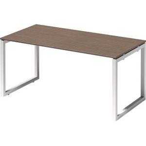 Bisley Schreibtisch CITO O 1600x740x800mm weiss/nußbaum