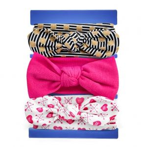 MyBeautyworld24 3 Stck Baby Stirnbänder 0 – 24 Monate verknotete Baby Stirnband Baby-Turban Mädchen Kopfband