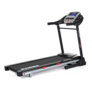 Hammer, Laufband Race Runner 2000M, 20 km/h, 26 Trainingsprogramme, Multifunktionscomputer, 2 PS, 3 Herzprogramme für Herz-Kreislauf-Training, bis Körpergewicht 130kg