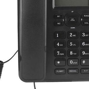 Mllaid Schnurgebundenes Telefon mit mehreren Funktionen für Business Office Schnurgebundenes Tischtelefon